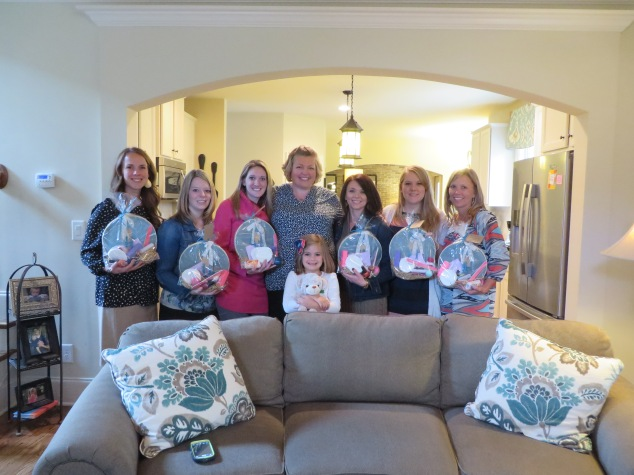 Six of the sweetest friends and baby shower hostesses! I love my small group!
